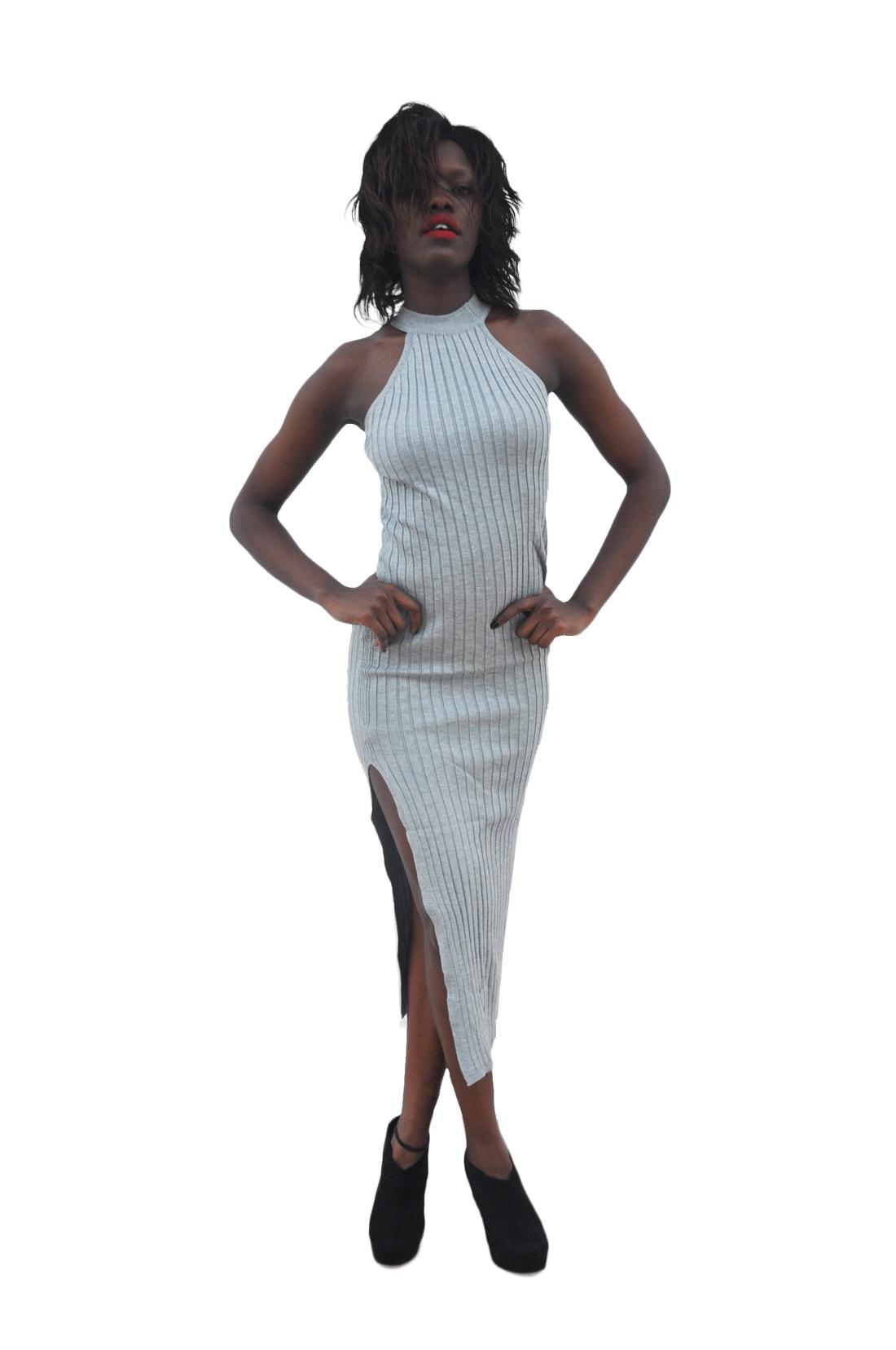 M0228 gray1 Maxi Dresses maureens.com boutique