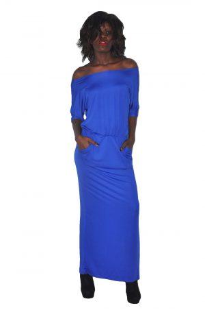 M0229 blue1 Maxi Dresses maureens.com boutique