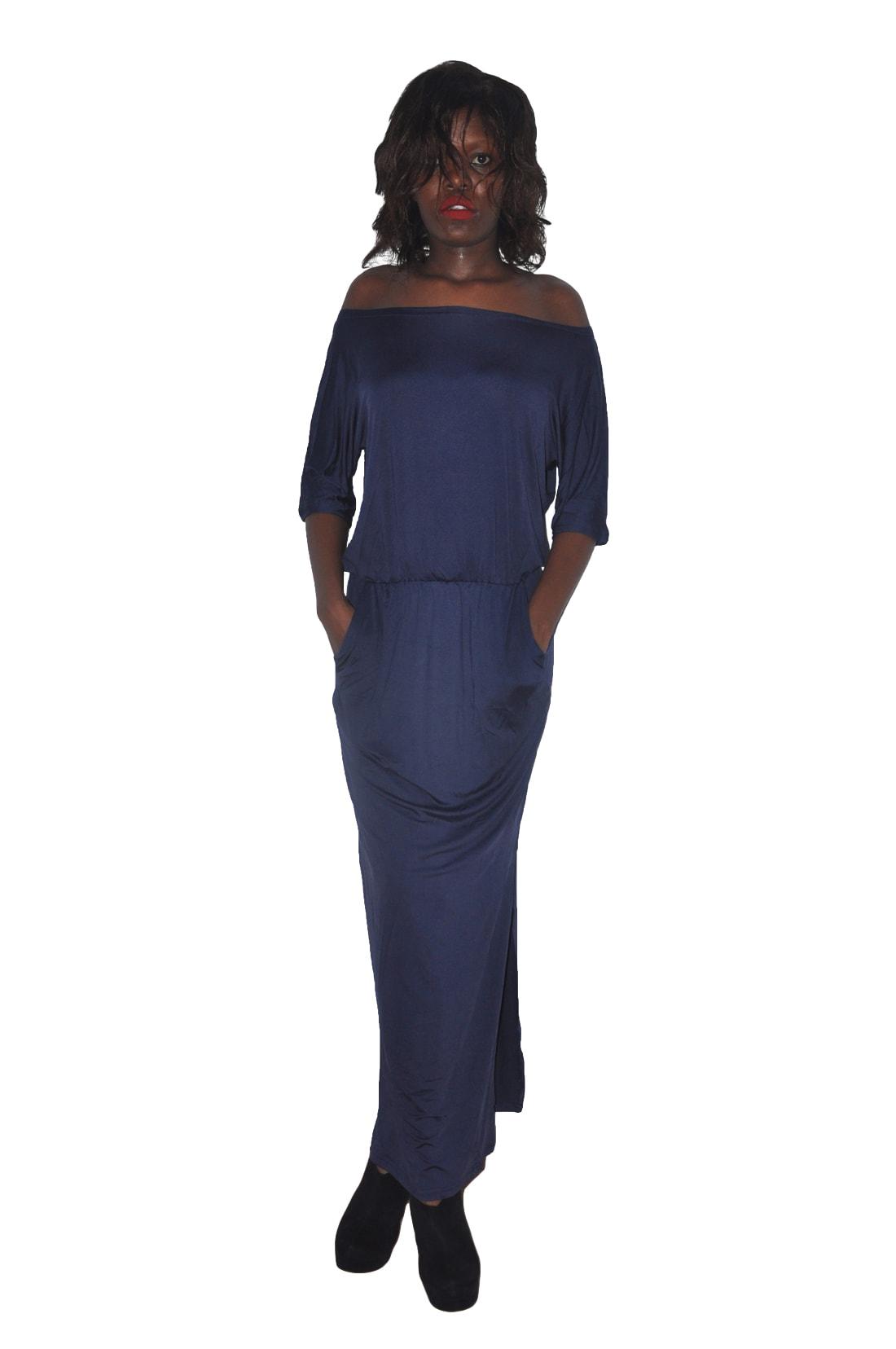 M0229 darkblue1 Maxi Dresses maureens.com boutique