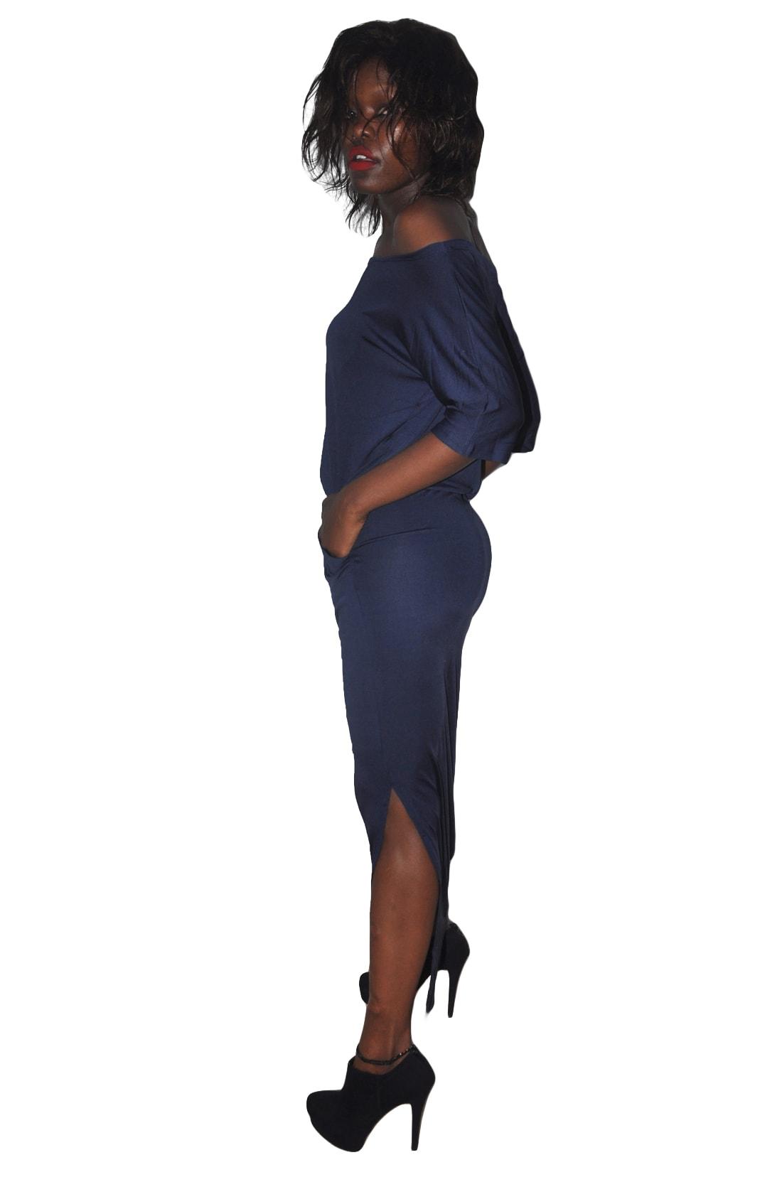 M0229 darkblue2 Maxi Dresses maureens.com boutique