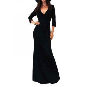 M0230 black1 Long Sleeve Dresses maureens.com boutique