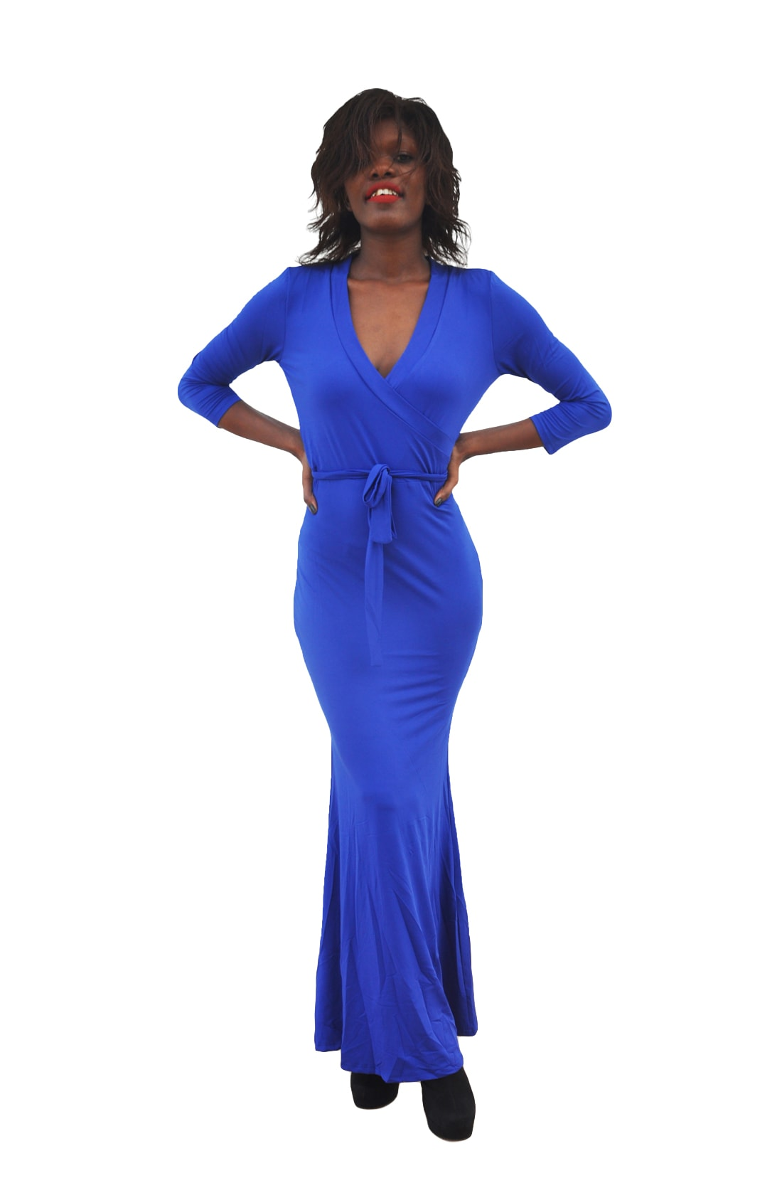 M0230 blue1 Long Sleeve Dresses maureens.com boutique