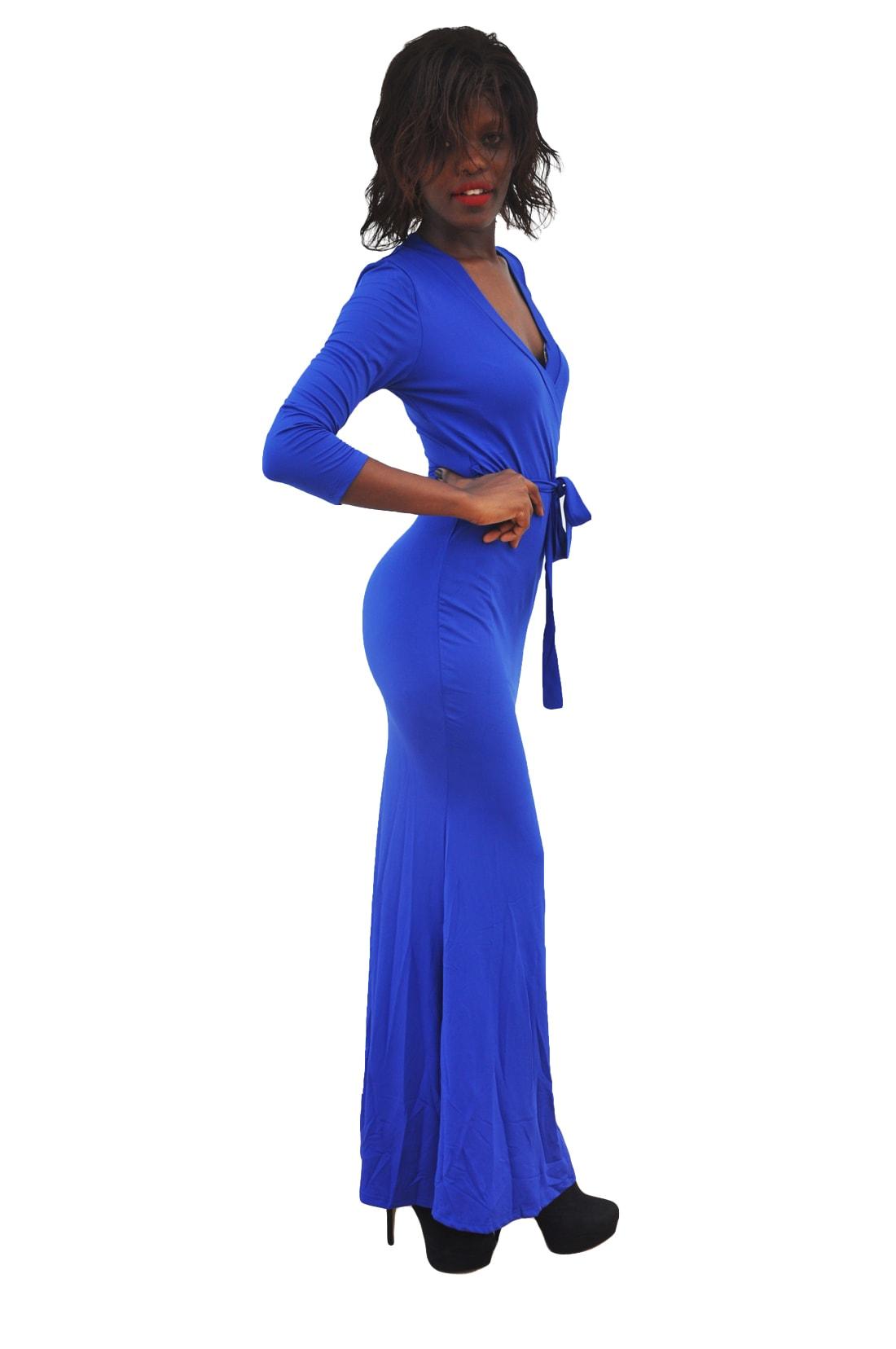 M0230 blue2 Long Sleeve Dresses maureens.com boutique