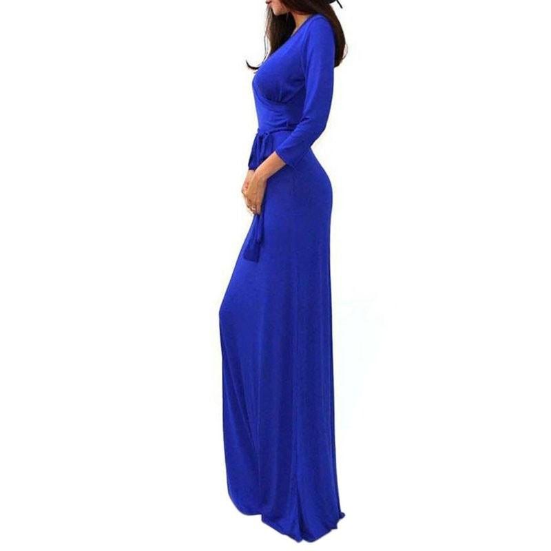 M0230 blue5 Long Sleeve Dresses maureens.com boutique
