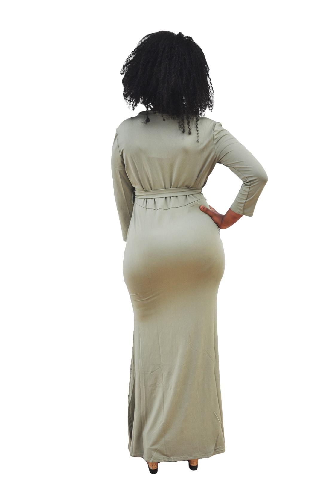 M0230 green3 Leisure Dresses maureens.com boutique