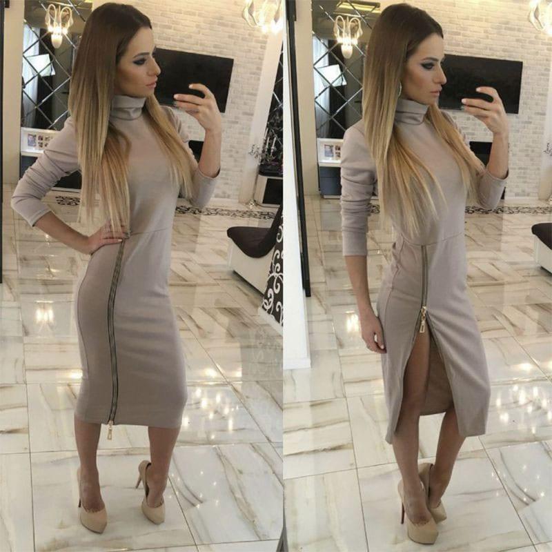 M0234 gray4 Maxi Dresses maureens.com boutique