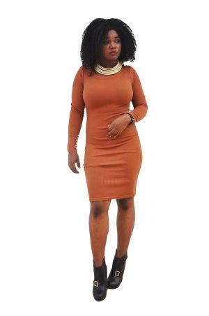 M0235 brown1 Office Evening Dresses maureens.com boutique