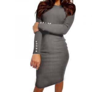 M0235 gray1 Office Evening Dresses maureens.com boutique