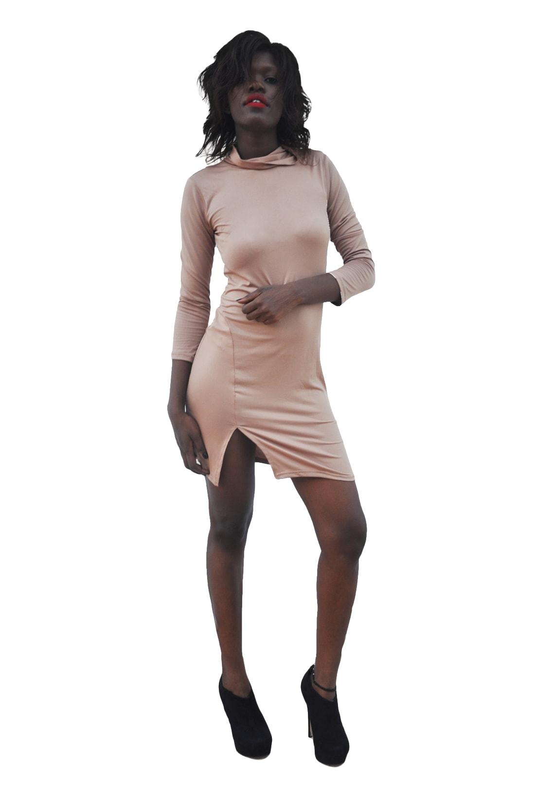 M0236 brown1 Long Sleeve Dresses maureens.com boutique
