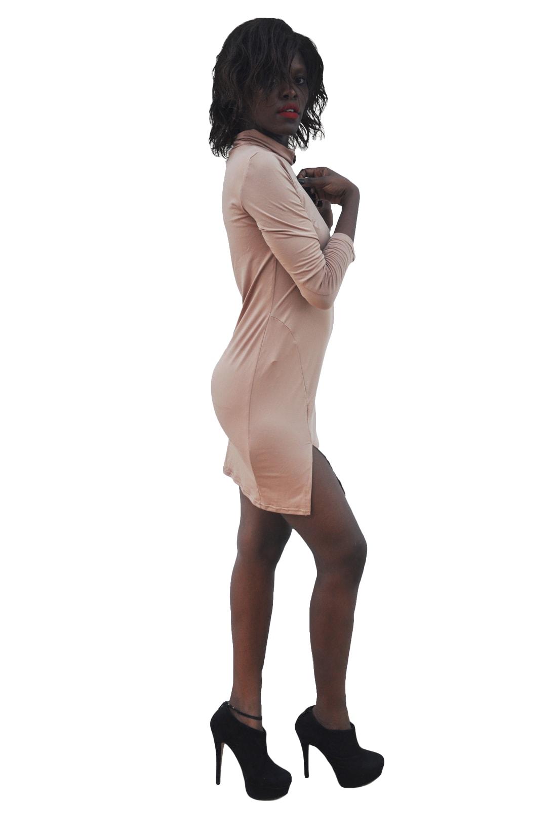 M0236 brown2 Long Sleeve Dresses maureens.com boutique