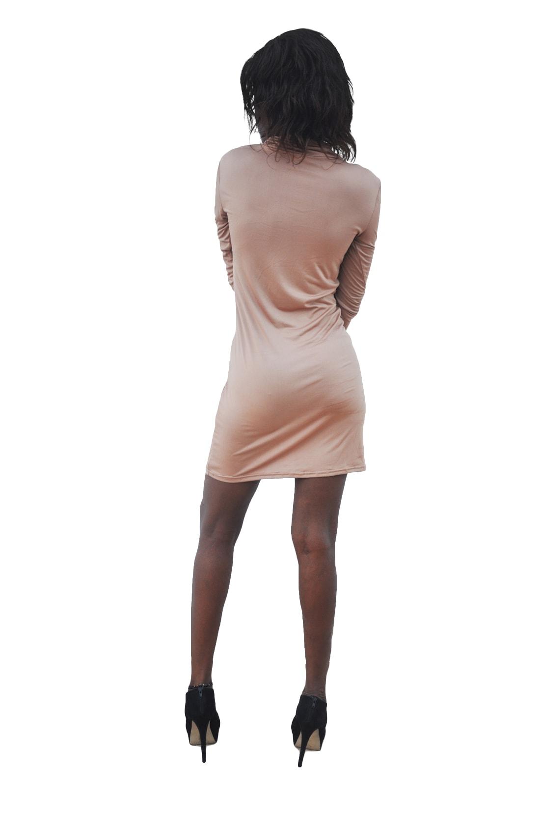 M0236 brown3 Long Sleeve Dresses maureens.com boutique