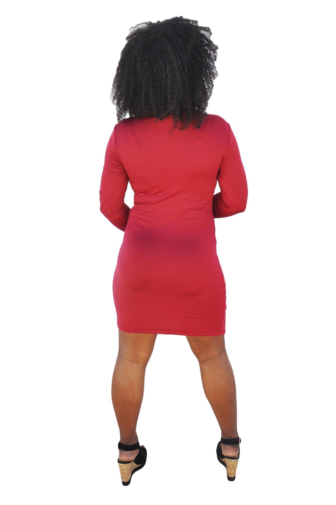 M0236 red3 Long Sleeve Dresses maureens.com boutique