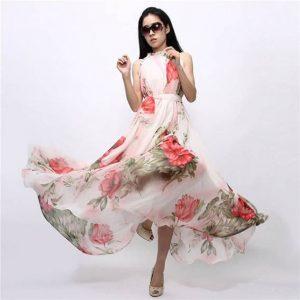 M0241 floralprint1 Bohemian Dresses maureens.com boutique