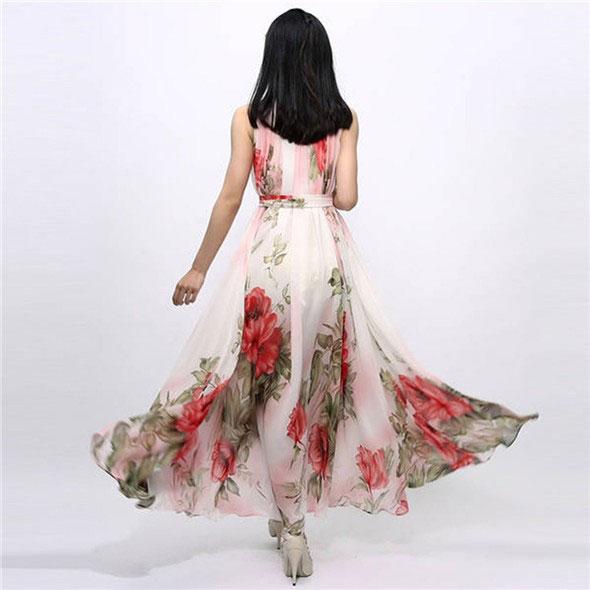 M0241 floralprint2 Bohemian Dresses maureens.com boutique