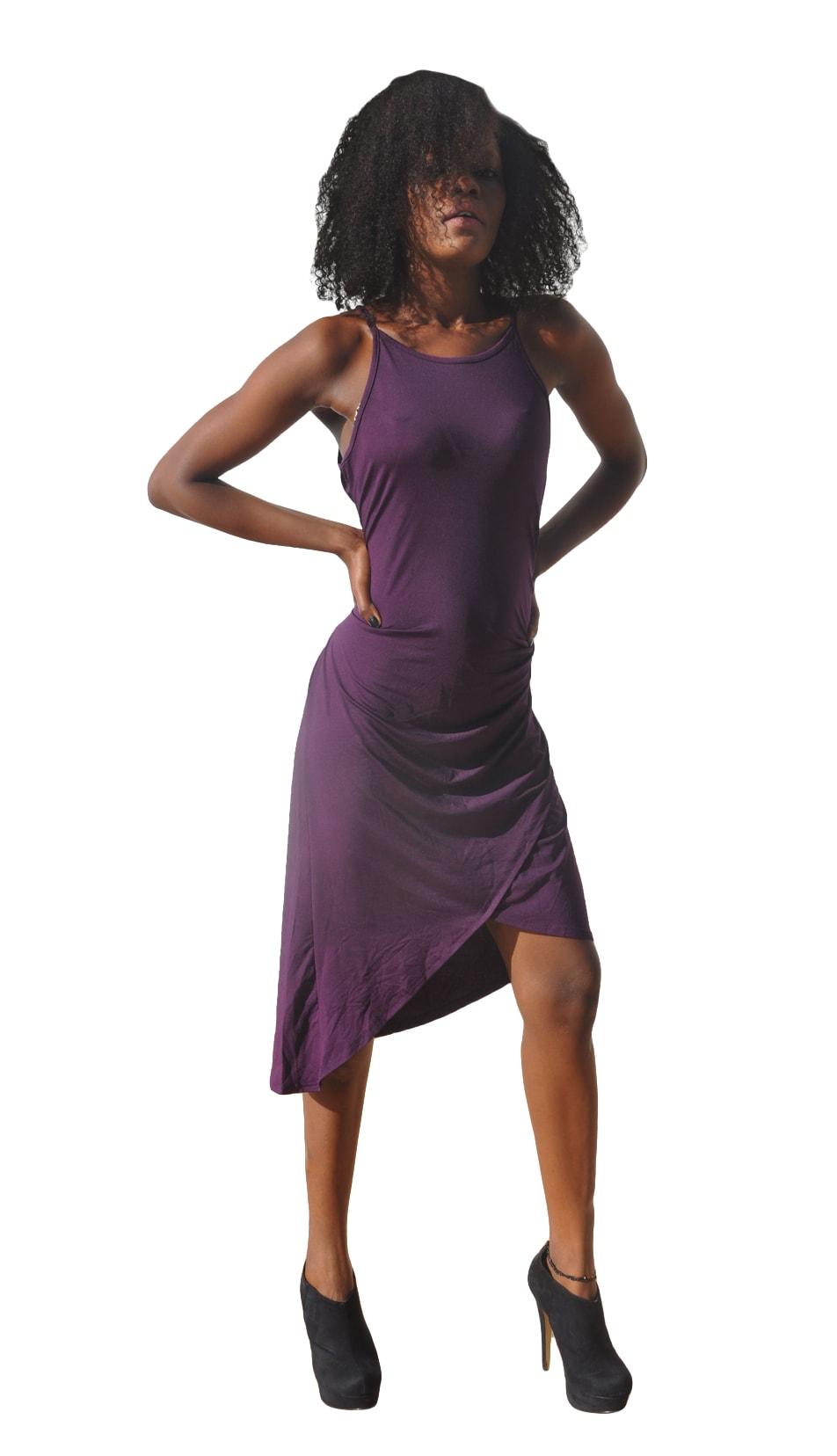M0246 purple1 High Low Dresses maureens.com boutique