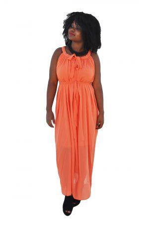 M0247 orange1 Wedding Bridesmaid Dresses maureens.com boutique