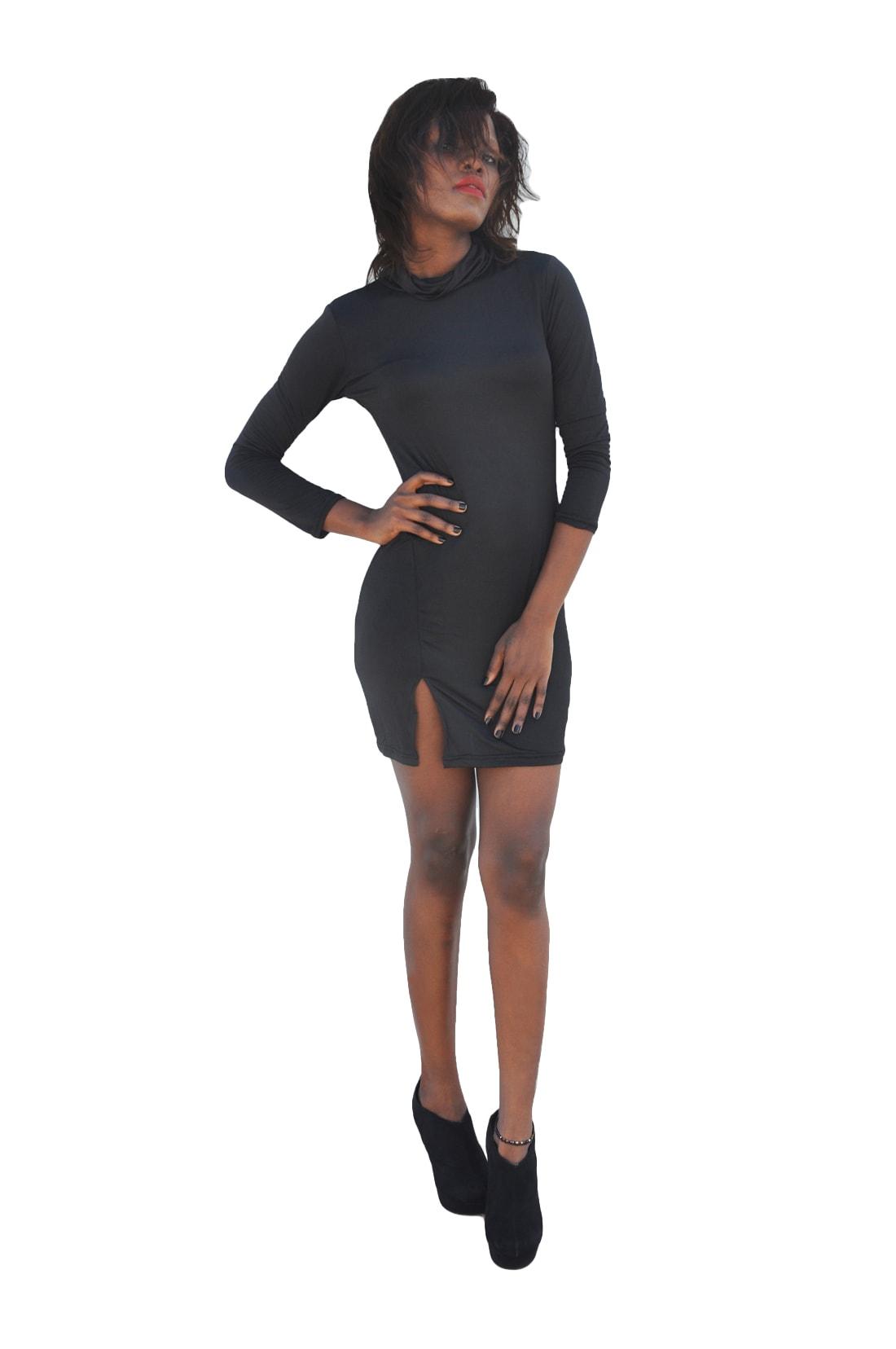 M0251 black1 Sleeveless Dresses maureens.com boutique