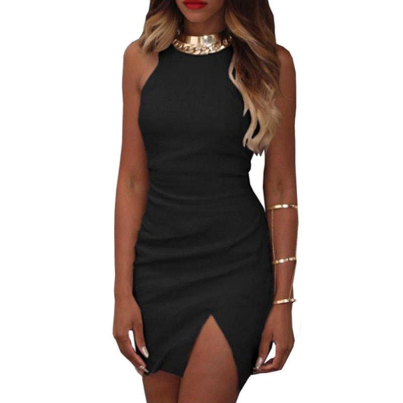 M0251 black4 Sleeveless Dresses maureens.com boutique