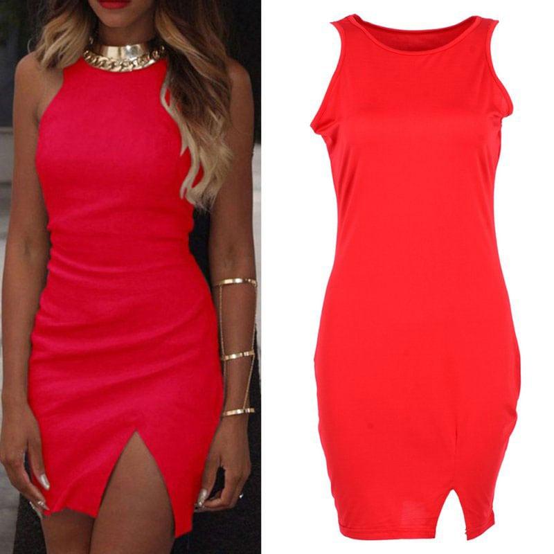 M0251 red2 Sleeveless Dresses maureens.com boutique