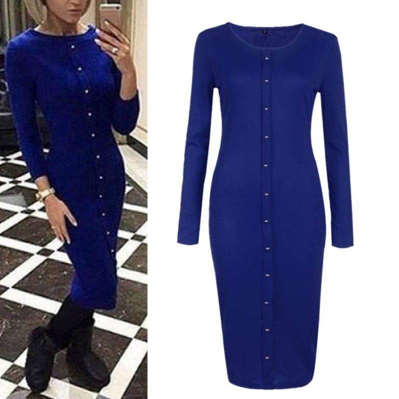 M0253 blue1 Office Evening Dresses maureens.com boutique