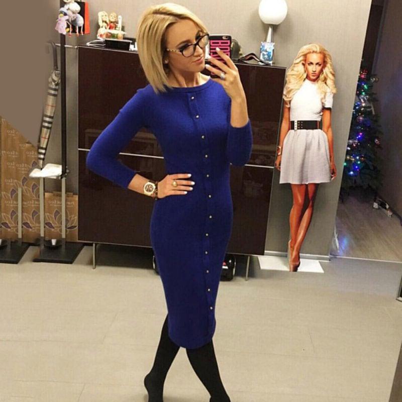 M0253 blue2 Office Evening Dresses maureens.com boutique
