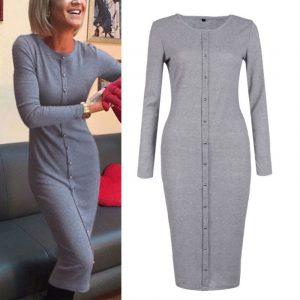 M0253 gray1 Office Evening Dresses maureens.com boutique