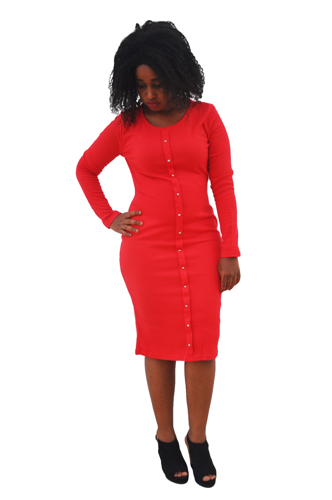 M0253 red1 Office Evening Dresses maureens.com boutique
