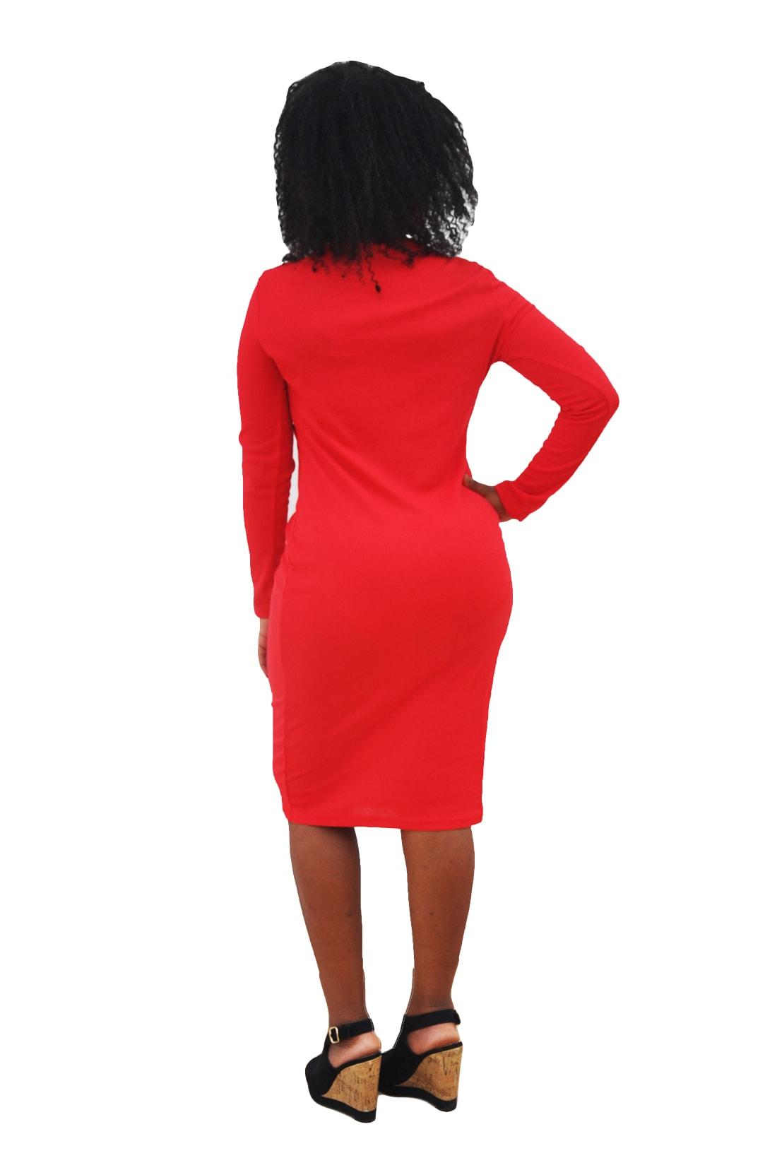 M0253 red3 Office Evening Dresses maureens.com boutique