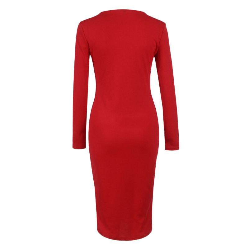 M0253 red6 Office Evening Dresses maureens.com boutique