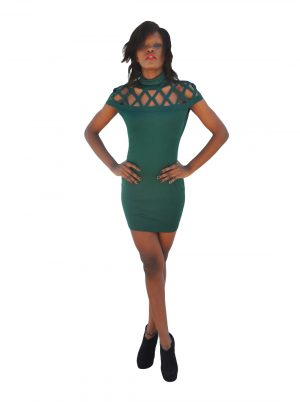 M0256 green1 Sleeveless Dresses maureens.com boutique