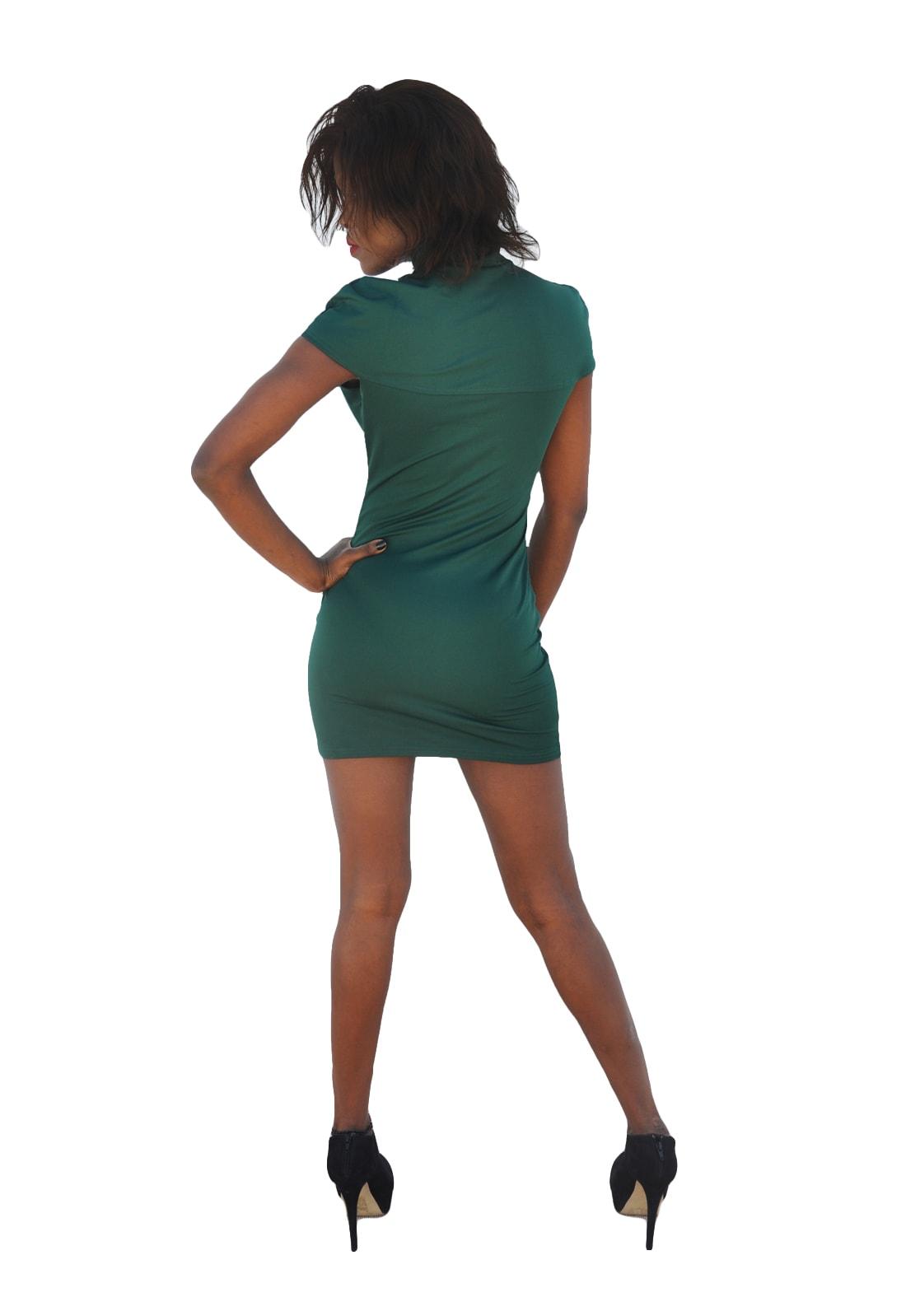 M0256 green2 Sleeveless Dresses maureens.com boutique