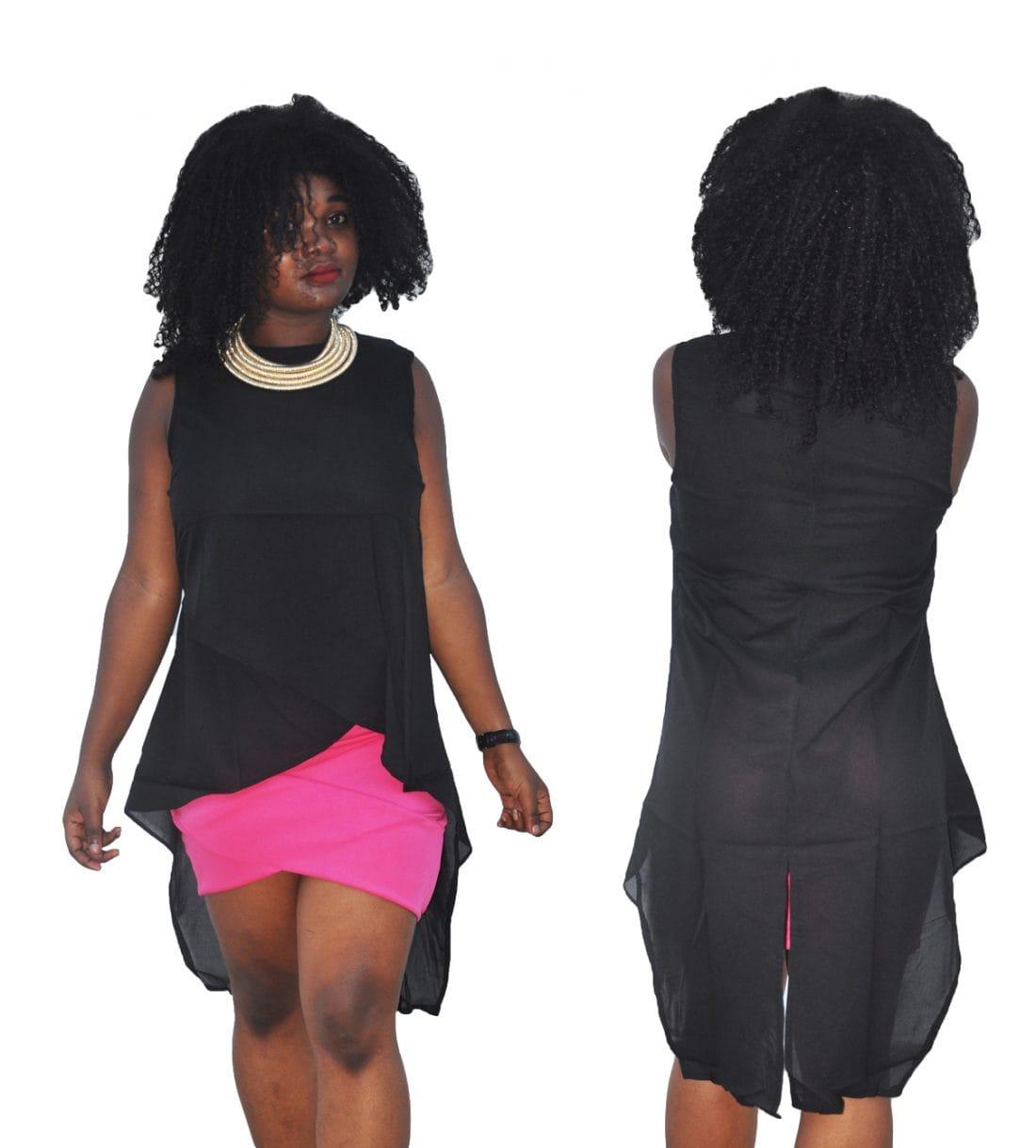 M0264 black1 Blouses Tops Shirts maureens.com boutique
