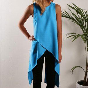 M0264 blue1 Blouses Tops Shirts maureens.com boutique