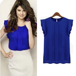 M0265 blue1 Business Formal Tops Shirts maureens.com boutique
