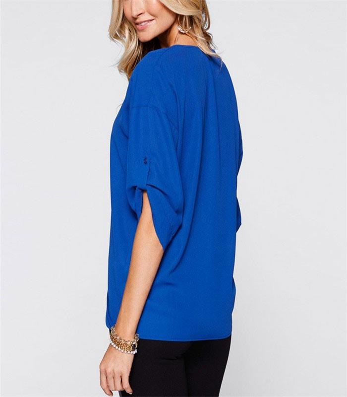 M0266 blue2 Blouses Tops Shirts maureens.com boutique