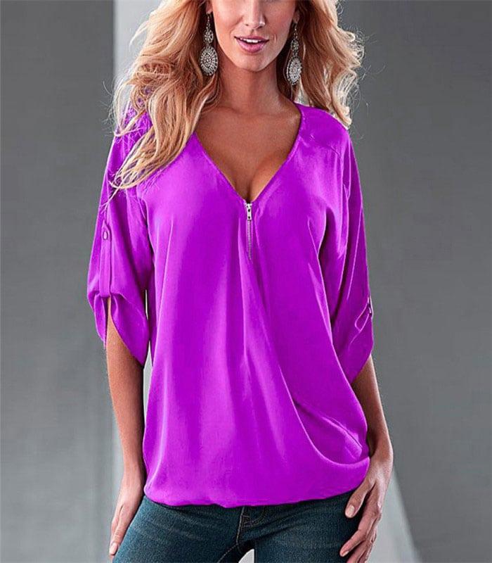 M0266 purple1 Blouses Tops Shirts maureens.com boutique