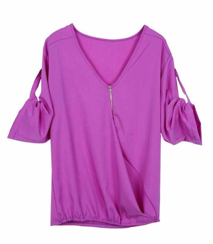 M0266 purple2 Blouses Tops Shirts maureens.com boutique