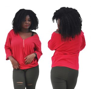 M0266 red1 Blouses Tops Shirts maureens.com boutique