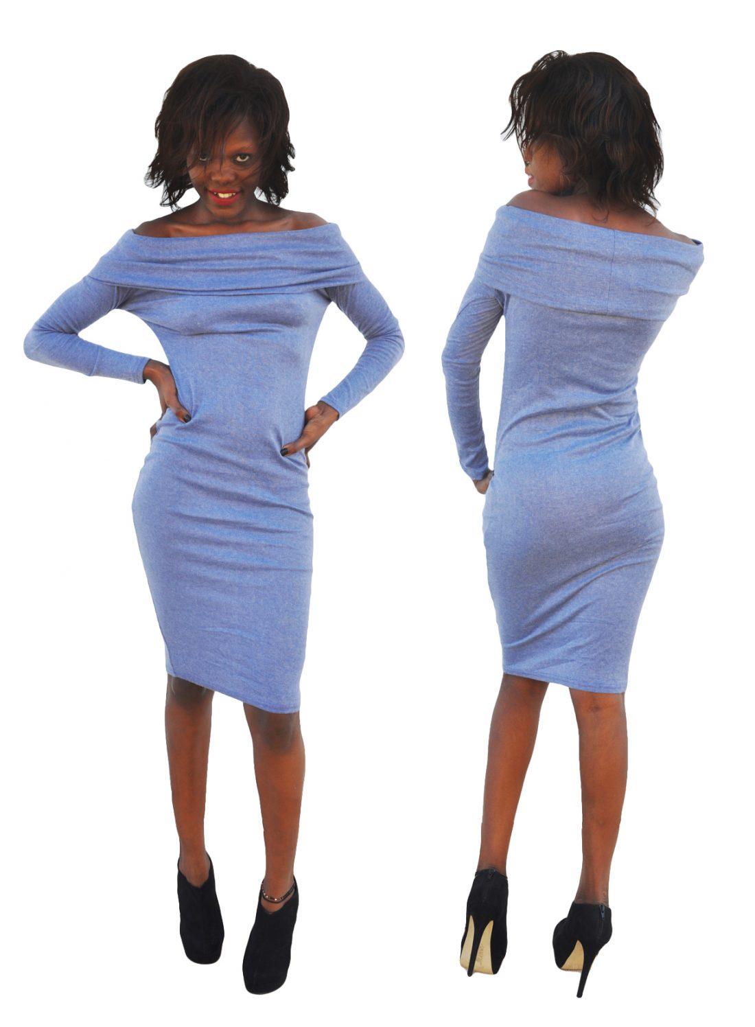 M0268 blue2 Long Sleeve Dresses maureens.com boutique