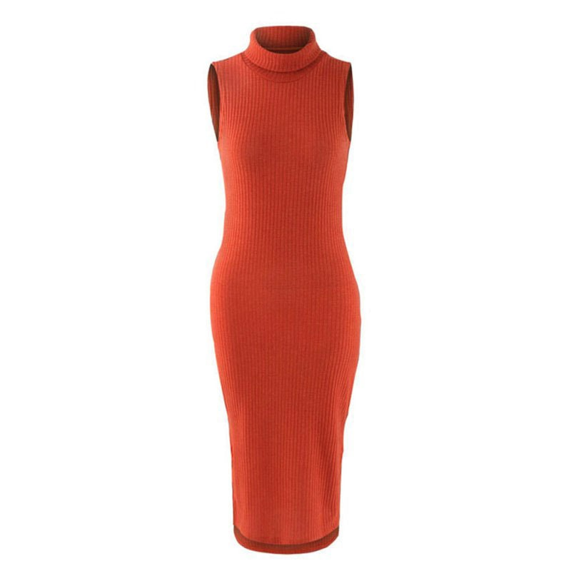 M0272 orange7 Sleeveless Dresses maureens.com boutique