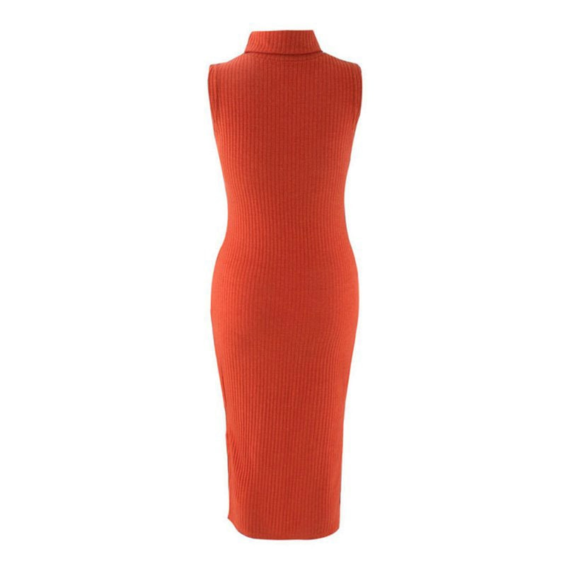 M0272 orange8 Sleeveless Dresses maureens.com boutique