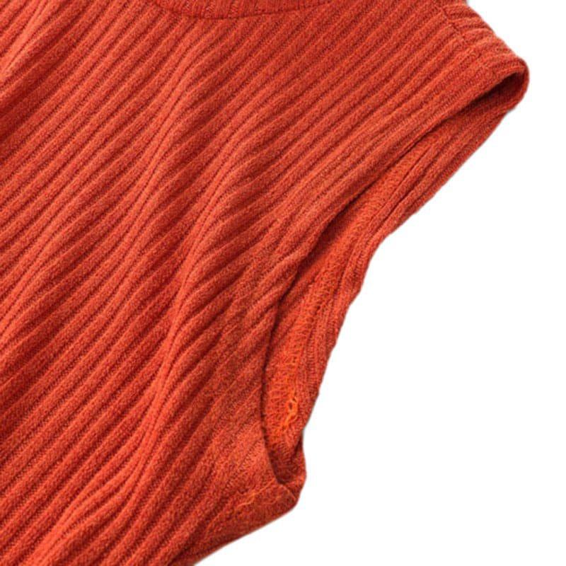 M0272 orange9 Sleeveless Dresses maureens.com boutique