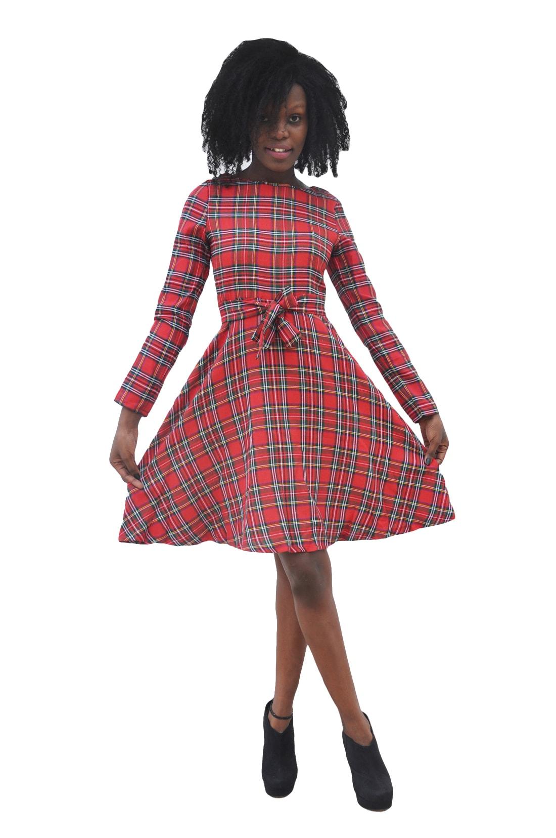 M0276 red1 Midi Medium Dresses maureens.com boutique