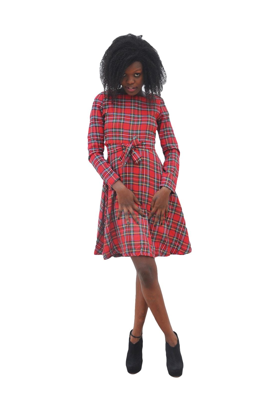 M0276 red4 Midi Medium Dresses maureens.com boutique