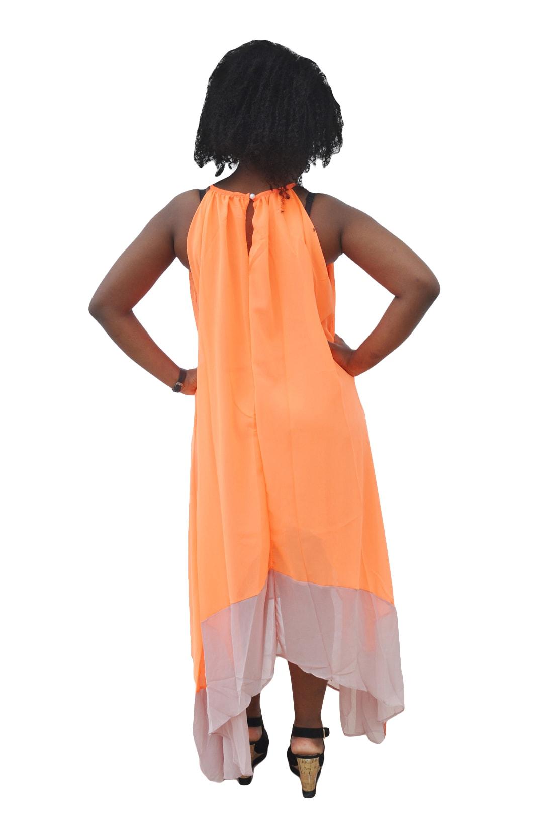 M0279 orange3 High Low Dresses maureens.com boutique