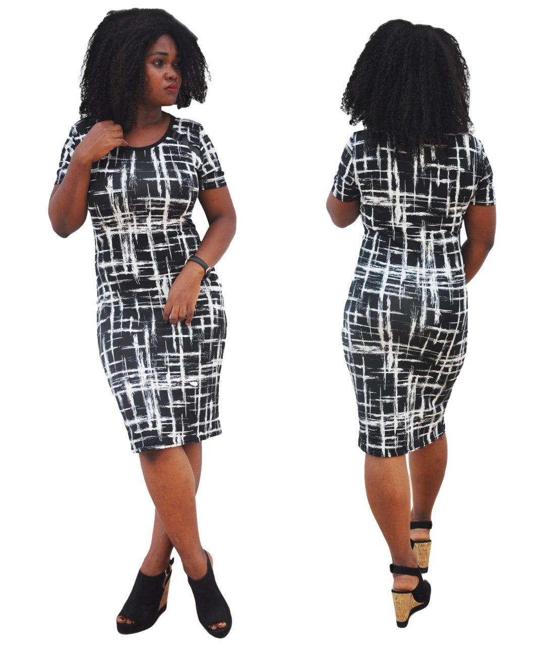M0280 blackwhite1 Office Evening Dresses maureens.com boutique