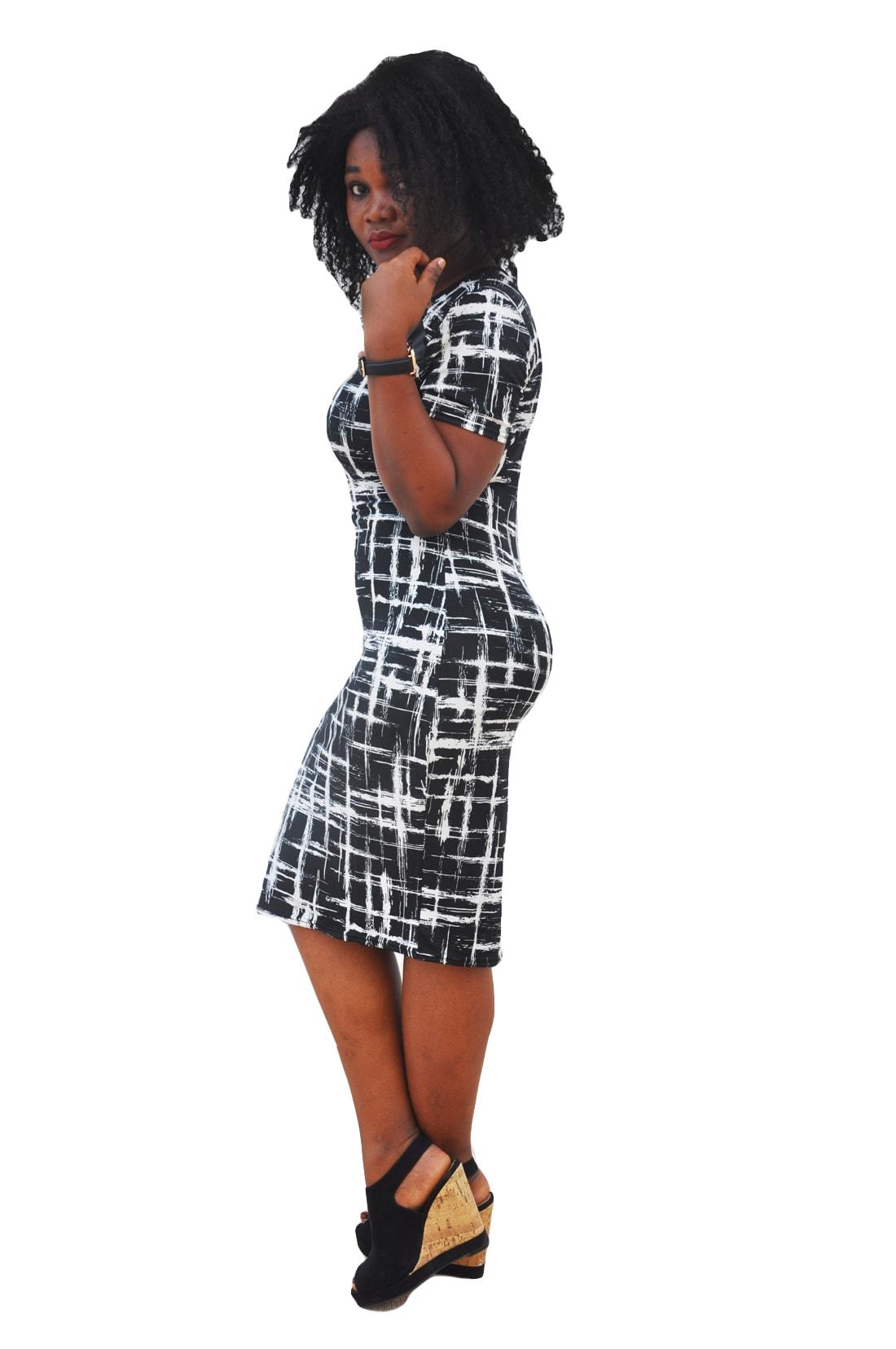 M0280 blackwhite2 Office Evening Dresses maureens.com boutique
