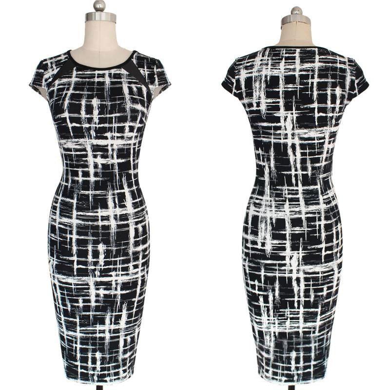 M0280 blackwhite5 Office Evening Dresses maureens.com boutique