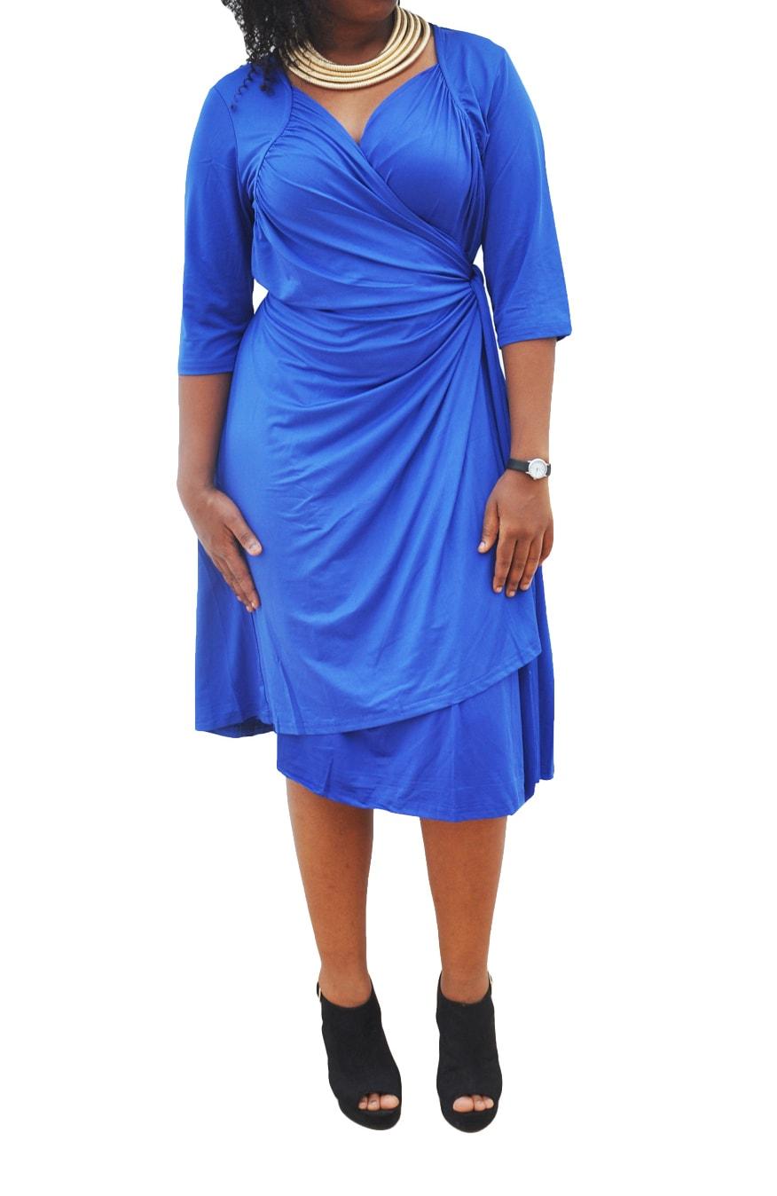 M0281 blue3 Short Sleeve Dresses maureens.com boutique
