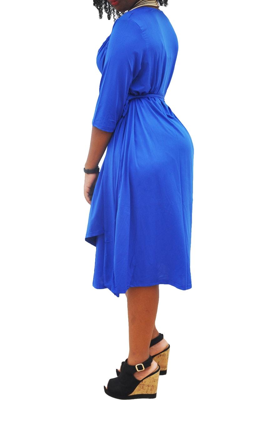 M0281 blue4 Short Sleeve Dresses maureens.com boutique